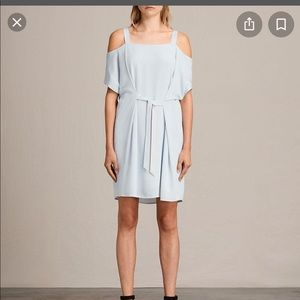 All Saints Rae Dress in Cloud Blue